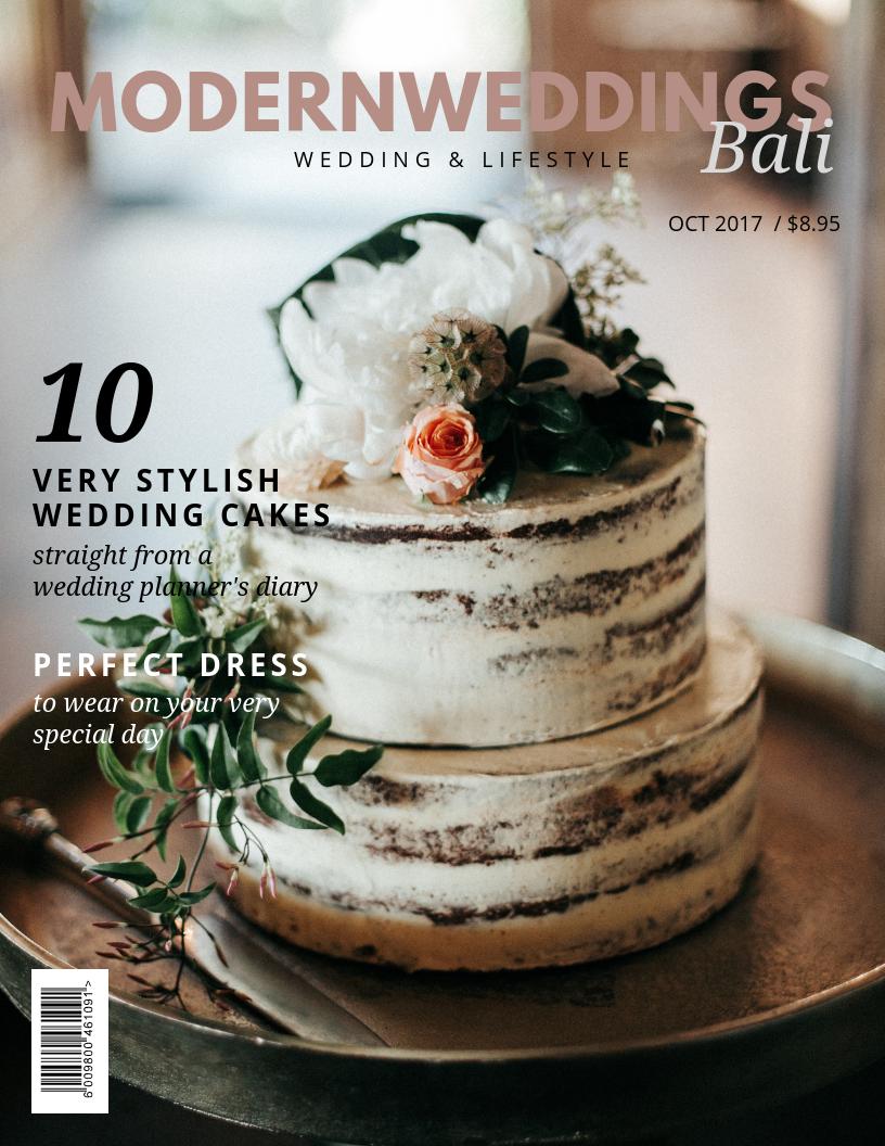 Beige Cake Wedding Magazine Cover