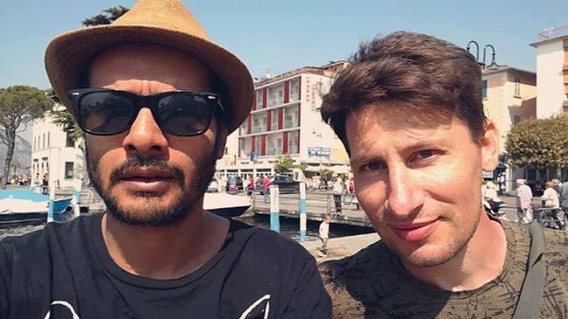 22/04/2018: A Iseo col collega Nicolas