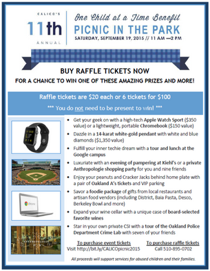11th Annual One Child at a Time Benefit Raffle