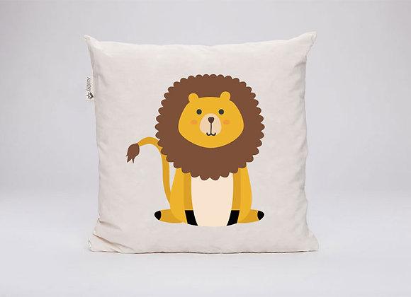 Zirbenkissen Löwe