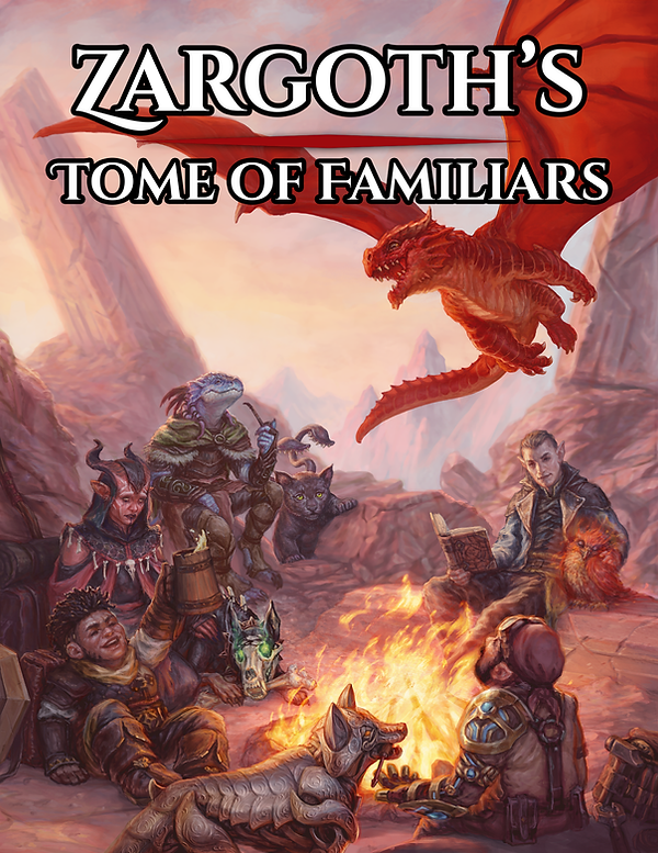 Zargoth's Tome of Familiars Cover with t