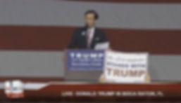 Richard speaking at Trump rally boca 3-1