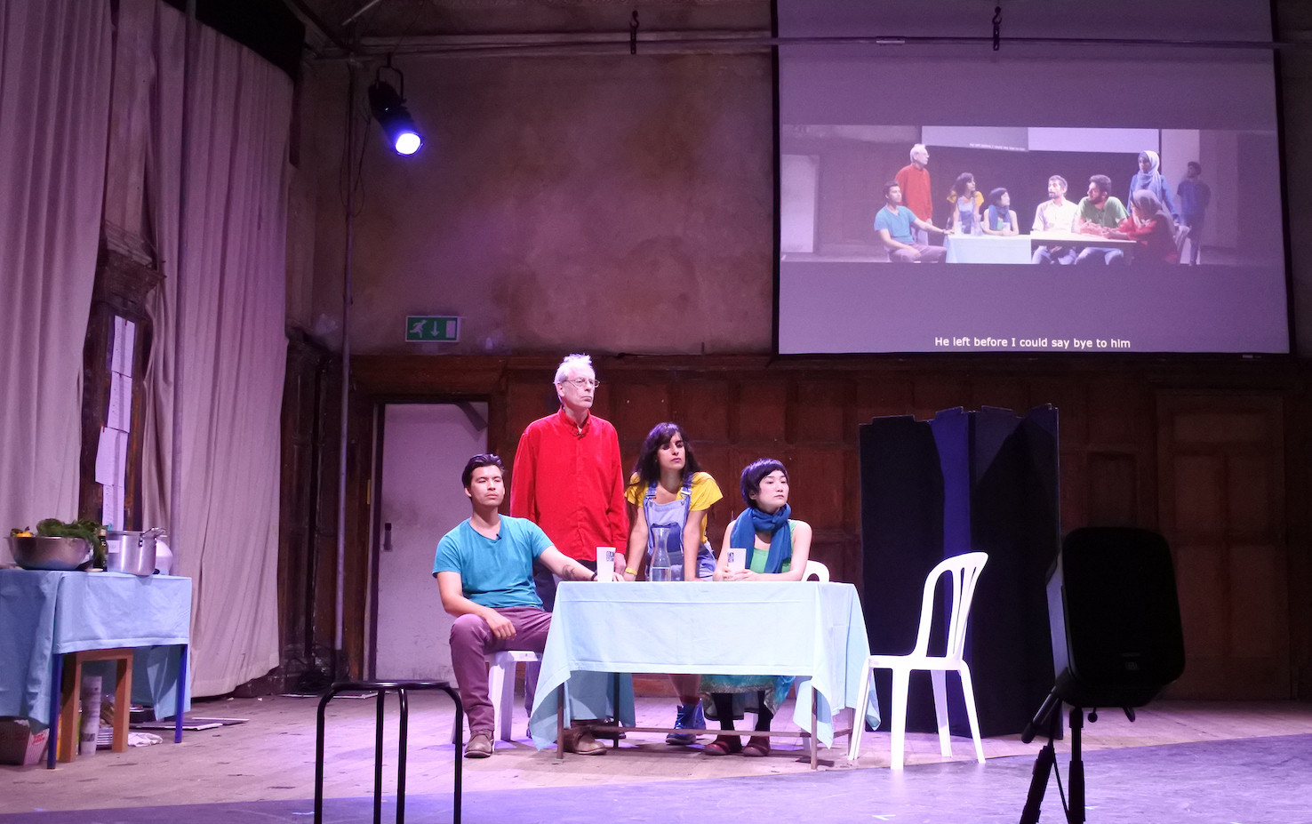 At Home in Gaza and London, Battersea Arts Centre, 2018, ©  Jem Kelly