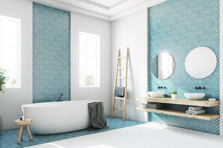 Refreshing Blue Bathroom