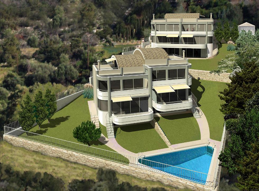 Houses under construction for sale near Schinias beach, Greece