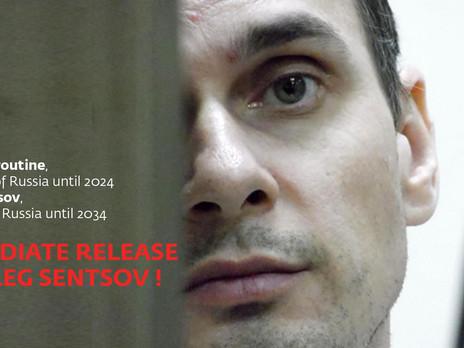 Oleg Sentsov en grève de la faim illimitée