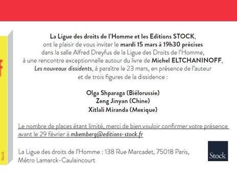 Rencontre autour du livre de Michel Eltchaninoff « Les Nouveaux dissidents »