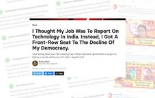 """Le déclin de la démocratie indienne - """"La technologie nous a faits et nous a défaits"""""""