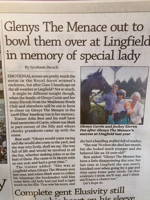 Racing Post article by Graham Dench