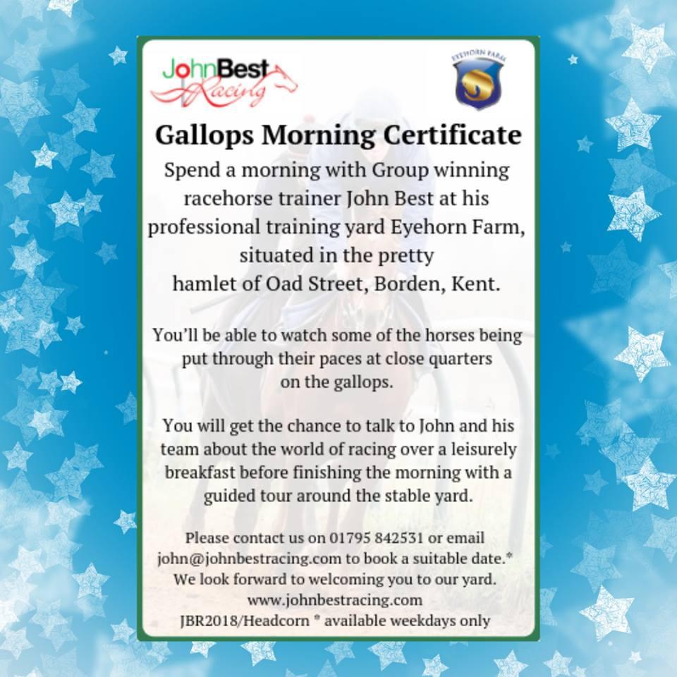 Gallops Morning Certificate