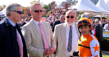 Sylvester De Sousa with owners and John