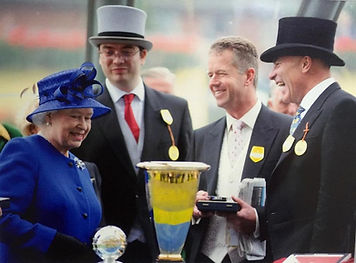 John Best Racehorse Trainer with the Queen
