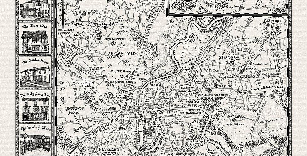 Pubs of Durham Map