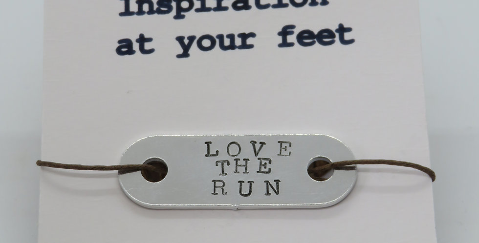 Hand stamped motivational trainer tags