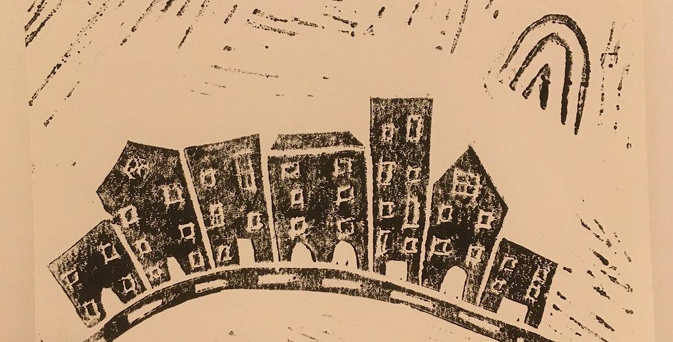 Houses A6 Monochrome