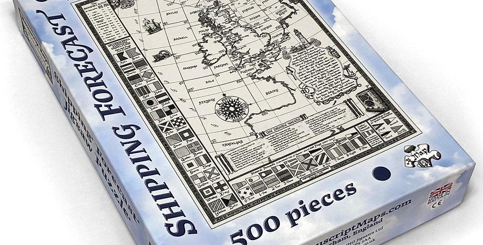 Shipping Forecast Map 500 Piece Jigsaw