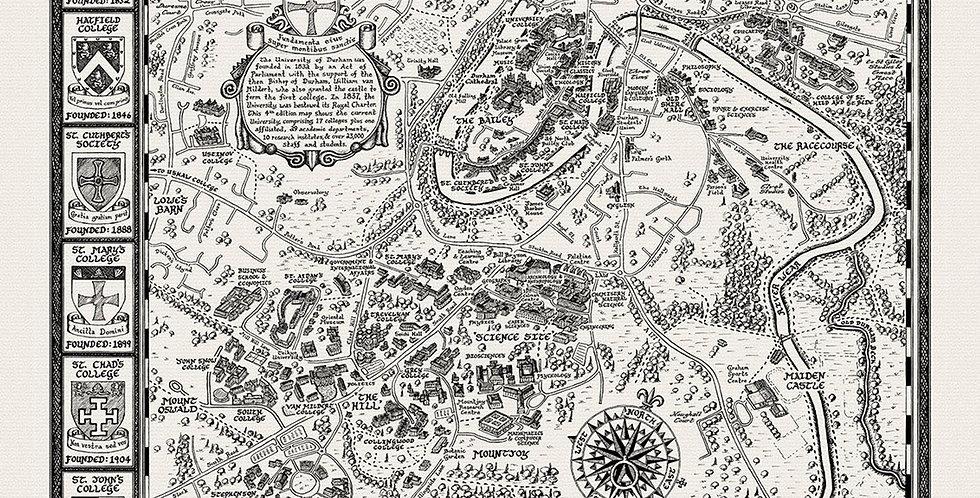 Durham University Map