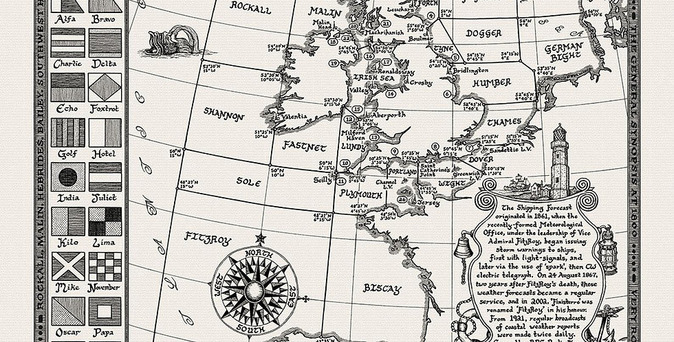 Shipping Forecast Map