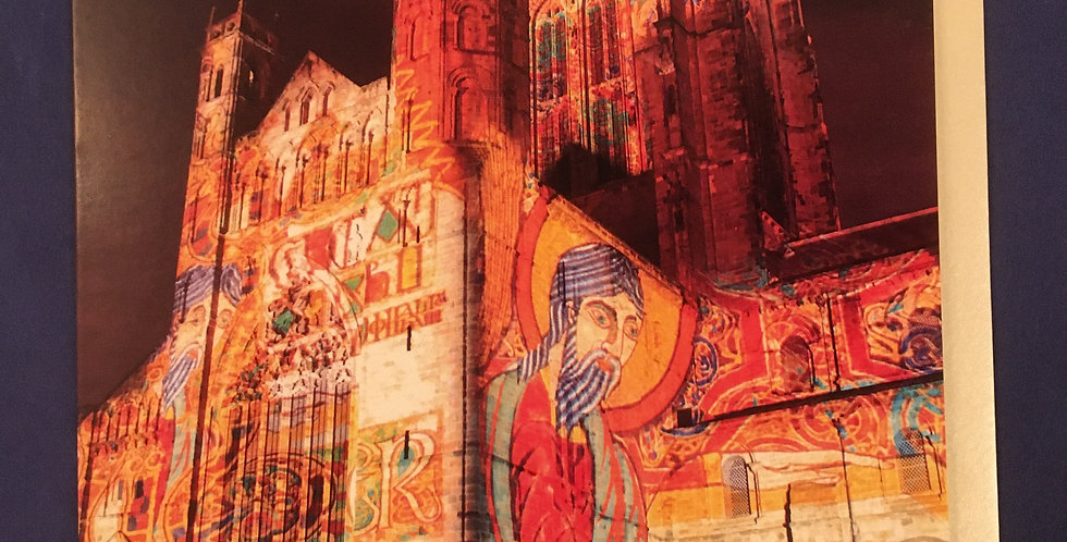Illuminations on Durham Cathedral Greetings Card