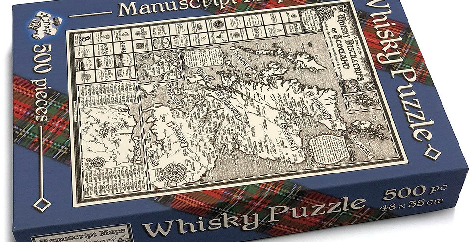 500 Piece Whisky Map Jigsaw