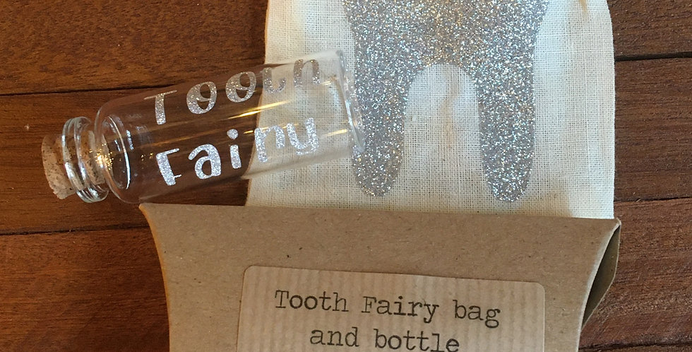 Tooth Fairy jar and bag