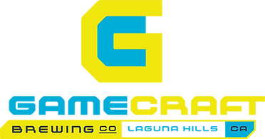 GameCraft Brewing Logo Yellow and Cyan Colored