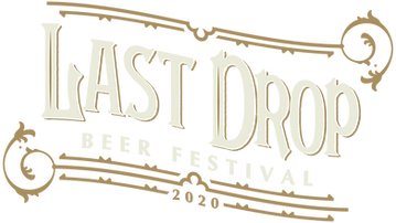 Last Drop Beer Festival Classic Logo in Gold and Ivory White