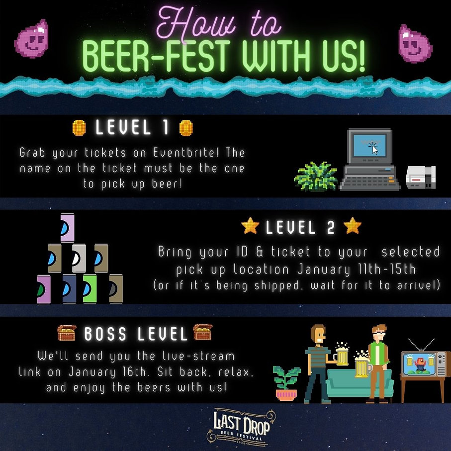 The 3 easy steps for joining our virtual beer fest.