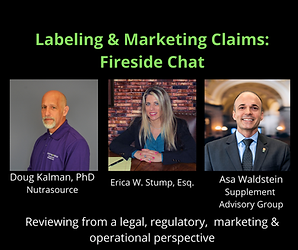 Label & Marketing Claims: Fireside Chat