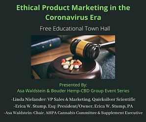 Ethical Product Marketing in the Coronavirus Era: Town Hall