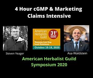 4 Hour cGMP & Marketing Workshop with Steven Yeager & Asa Waldstein