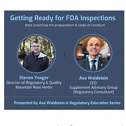 Preparing For FDA Inspections: Fireside Chat