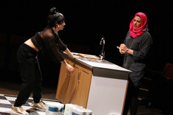 Zelina Rebeiro & Asha Kingsley  in The Sum, photograph by Stephen Vaughan IMG_2558