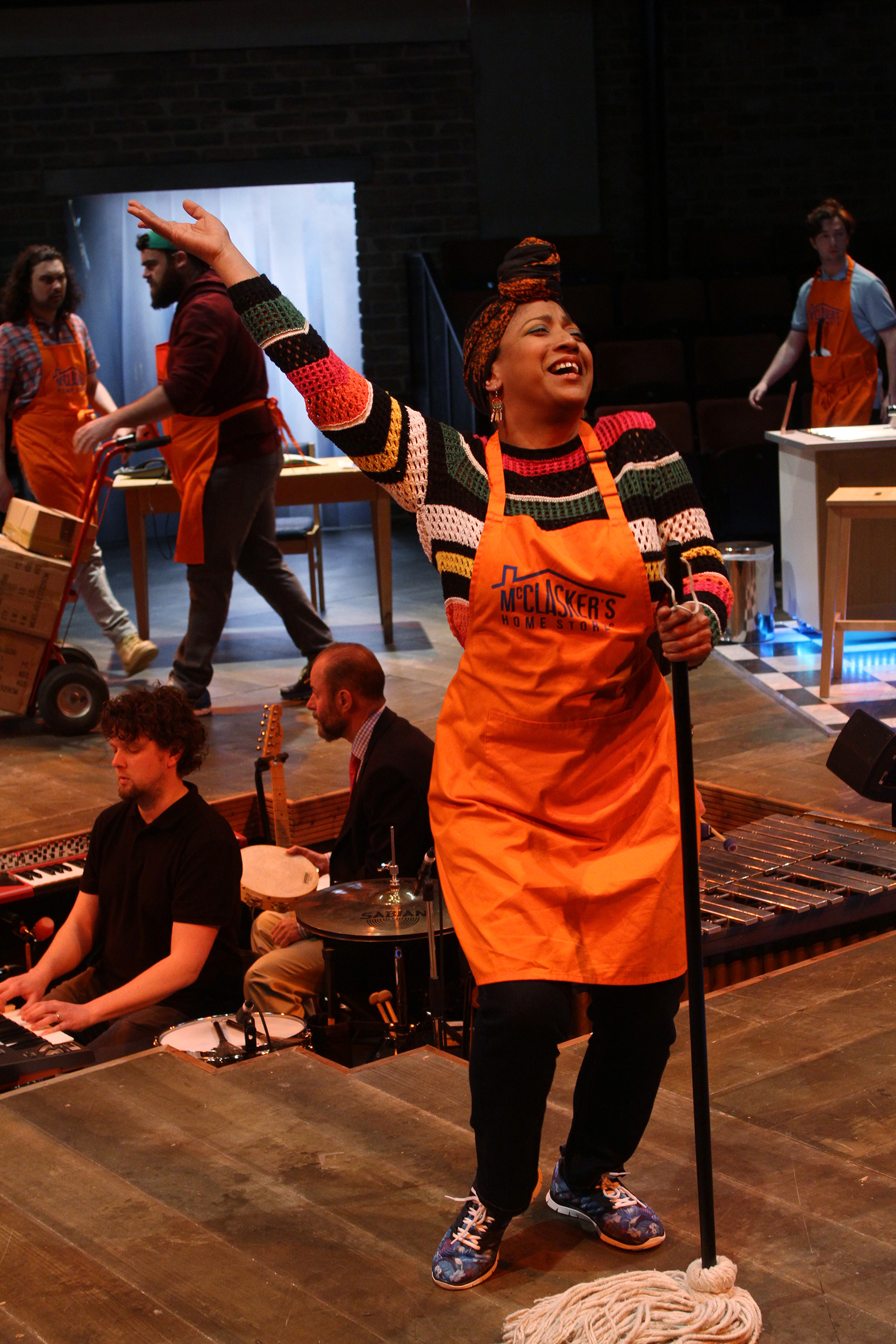 Melanie La Barrie and the Everyman Company  in The Sum, photograph by Stephen Vaughan IMG_2302 #