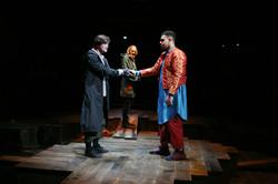 George Caple, Elliott Kingsley with Richard Bremmer in Romeo & Juliet, photo by Gary Calton GC280517