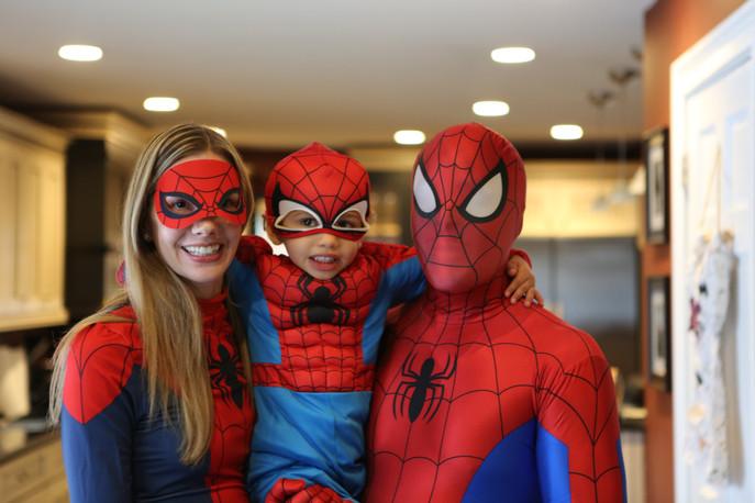 Spidey family on Halloween.