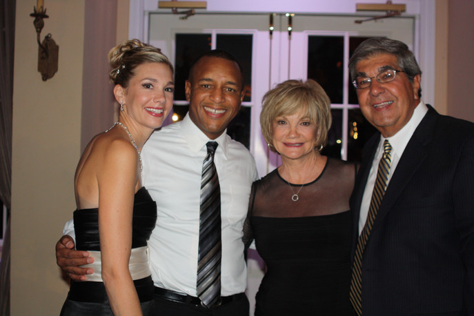 With Gena's parents.