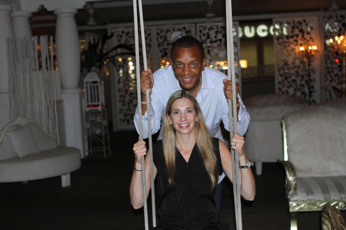 Swings in the restaurant.
