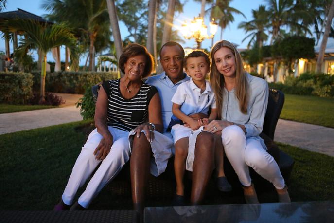 With Kenny's mom - Nana.