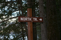 NORTH TRAIL SIGN