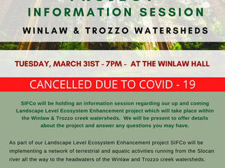ECOSYSTEM ENHANCEMENT PROJECT INFO SESSION CANCELLED