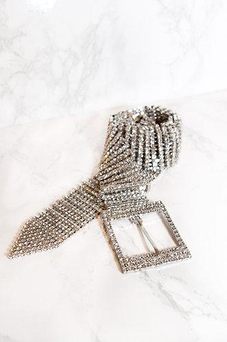 SILVER DIAMOND BELT