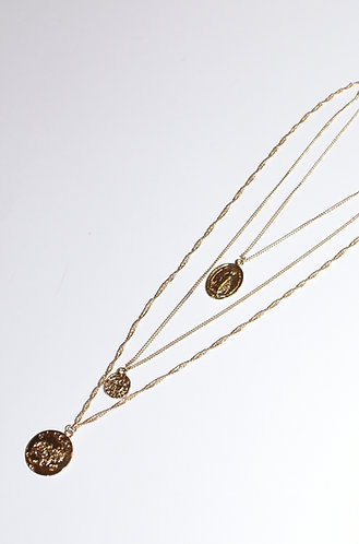 SET OF 3 GOLD NECKLACES