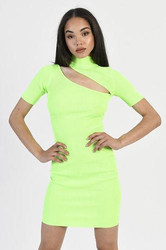 PIPER GREEN NEON DRESS