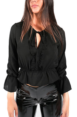 ROMAN BLACK BLOUSE