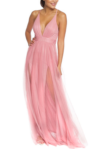 DUSTY PINK MAXI DRESS