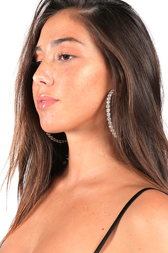 DIAMOND SILVER THICK HOOPS