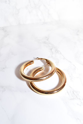 EXTRA THICK GOLD HOOPS