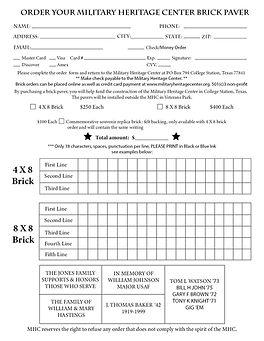 Military Heritage Center Bricks page 2 v