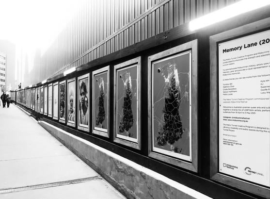 MIDSUMMA x METRO TUNNEL 'Memory Lane' artist commission